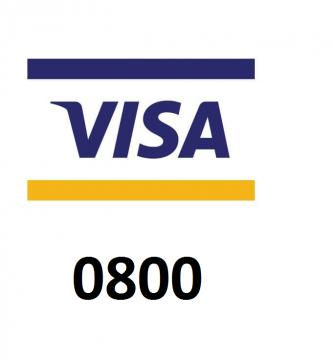 0800 tarjeta visa