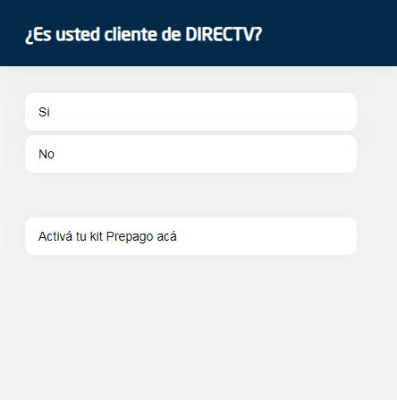 DirecTV Argentina 0800